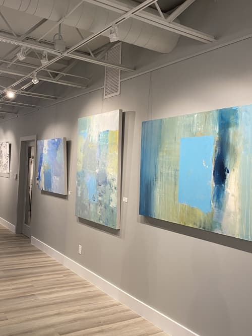 Paintings by Donna Bruni seen at Creator's Studio, Naples - Infinity Pool, Oil Painting