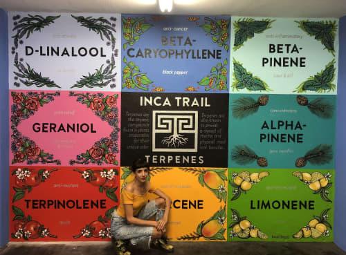 What is a Terpene? | Murals by Nicki Deux | Inca Trail Terpenes in Los Angeles