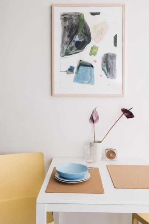 """Paintings by maja dlugolecki - 'greenpoint no. 02', 18"""" x 24"""""""