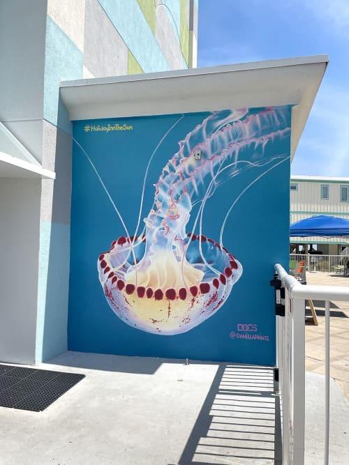 Atlantic Sea Nettle | Murals by Daniela de Castro Sucre | Holiday Inn Express Orange Beach-on the Beach, an IHG Hotel in Orange Beach