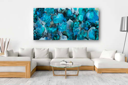 WATER LILY | Paintings by Christina Twomey Art + Design | Private Residence - New York in New York