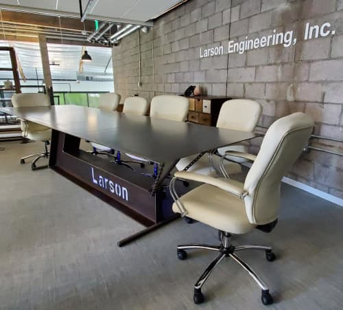 Interior Design by Ronna Nemitz seen at Larson Enginering, Inc., Scottsdale - Custom Conference Table