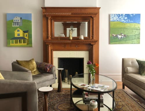 Paintings by Scott Redden seen at Private Residence, Brooklyn - Two original oil paintings by Scott Redden
