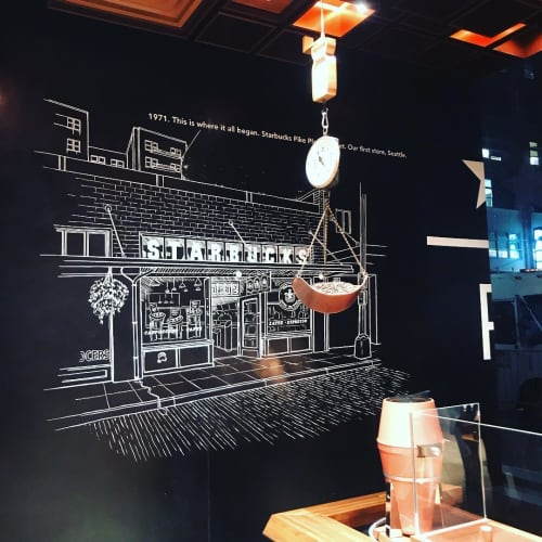 Mural | Murals by Very Fine Signs | Starbucks Reserve New York Roastery in New York