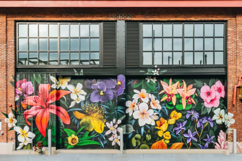 Street Murals by Isenberg Projects at Arsenal Yards, Watertown - Ouizi Mural - Arsenal Yards