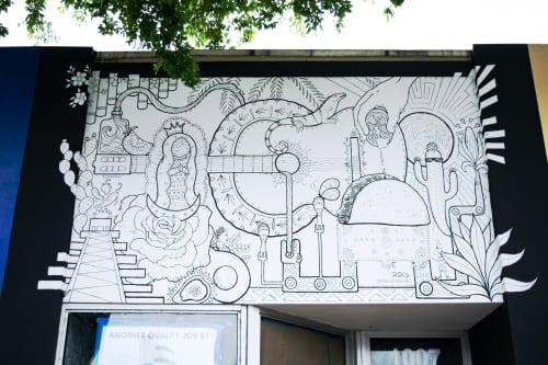 Tortilla House Mural   Murals by Daniela de Castro Sucre   Calle Ocho in Miami
