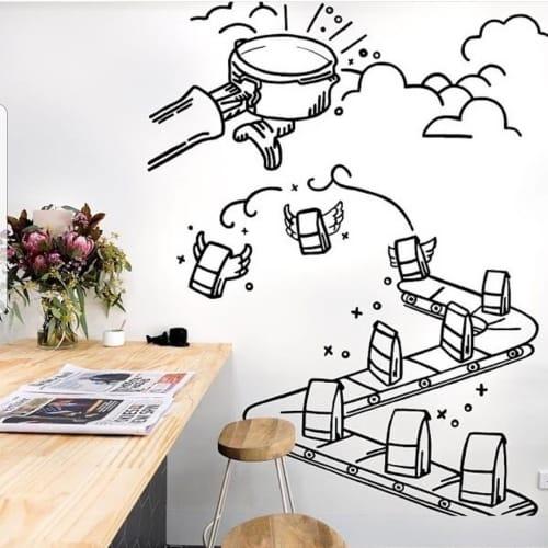mural (coffee journey) | Murals by Rene Veno | Bricks & Mortar Coffee Co. in Mount Gambier
