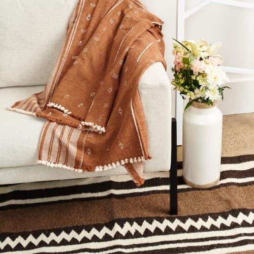 Reyti Organic Cotton Throw | Linens & Bedding by Studio Variously