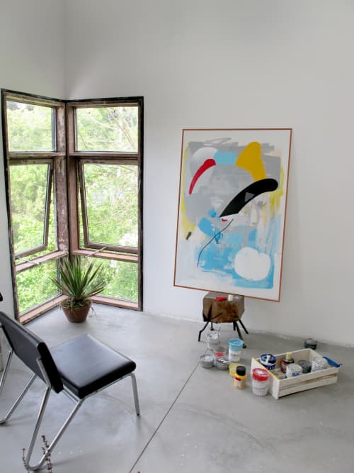 Acrylic on canvas | Paintings by Defi Gagliardo | Private Residence in Buenos Aires