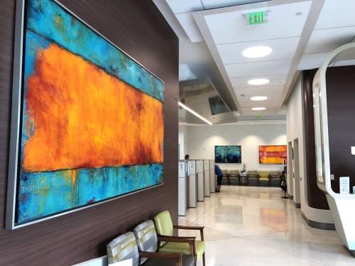 Art for lobby of Bascom Palmer. Custom Paintings titled: Journey's Mood, House Of Blues & Catalina Coast   Paintings by ERIN ASHLEY