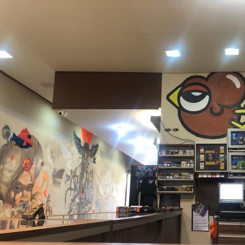Indoor Mural | Murals by Andre Gonzaga Dalata | Tabacaria e Head Shop Be Happy BH Centro in Centro