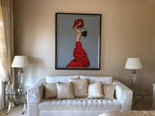 Paintings by Juan Cossio seen at Private Residence, Faro - Source