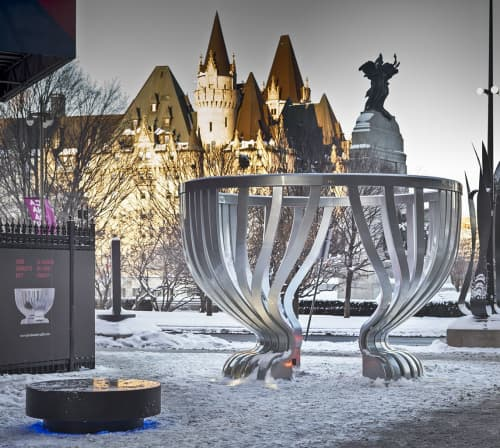 Public Sculptures by Linda Covit at Sparks Street, Ottawa - Lord Stanleys Gift Monument