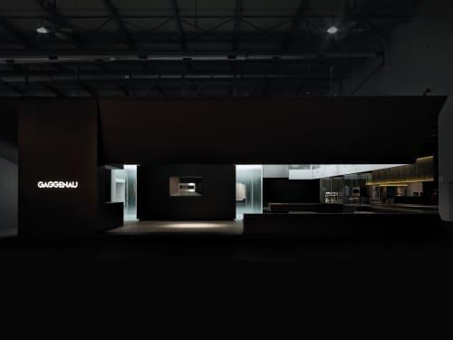 Booth at Eurocucina 2016, Gaggenau | Interior Design by 1zu33 Architectural Brand Identity