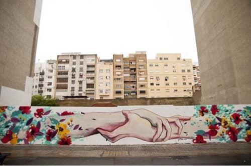 Thinking us together   Street Murals by Julieta XLF
