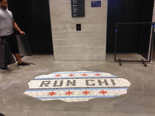 Public Mosaics by bachor seen at Nike, Michigan Avenue, Chicago, IL, Chicago - RUN CHI