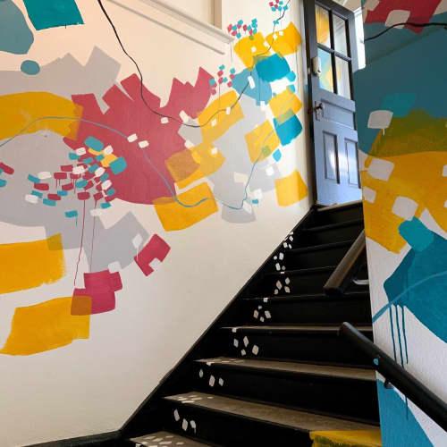 Murals by Pamela J. Black - Abstract Stairway Mural
