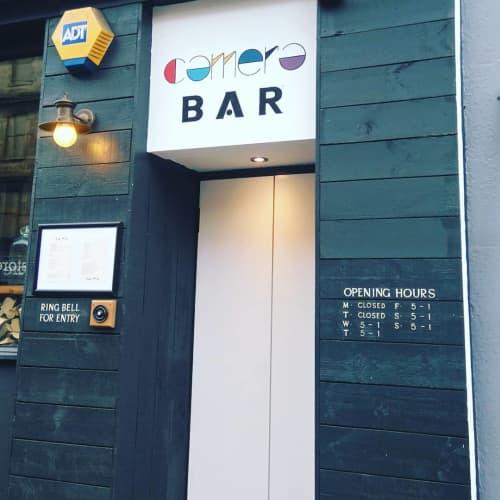 Camera Bar | Signage by Journeyman Signs (TATCH) | Camera in Edinburgh