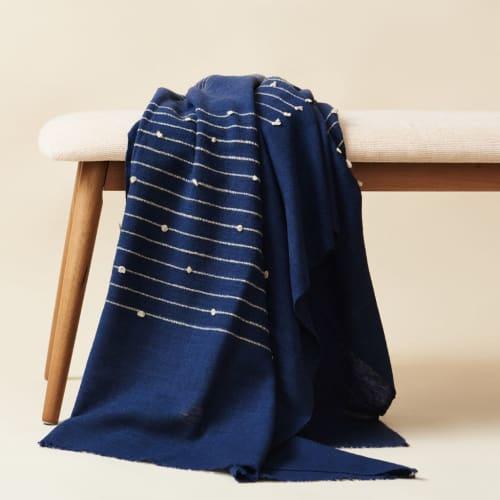 Rosewood Indigo Throw | Linens & Bedding by Studio Variously