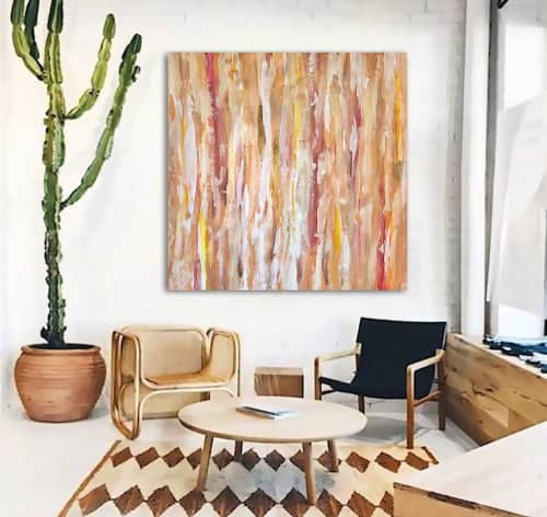 'DESERT WiND' original abstract painting by Linnea Heide | Paintings by Linnea Heide contemporary fine art