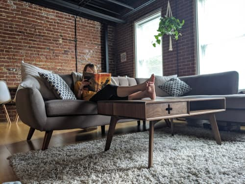 Tables by Max Moody Design seen at Private Residence, Chattanooga - Coffee Table Plus in Solid Walnut / Mid Century Modern