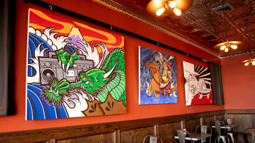 Paintings by Sonny Wong at The Diver Bar & Grill, Eureka - Sonny Wong's Art