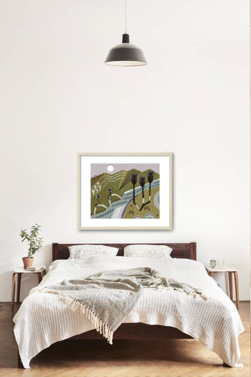 Paintings by Birdsong Prints - Mountain Art Nature Print
