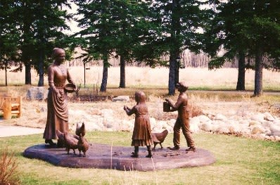 Egg Money - Calgary, AB   Public Sculptures by Don Begg / Studio West Bronze Foundry & Art Gallery   Fish Creek Provincial Park in Calgary