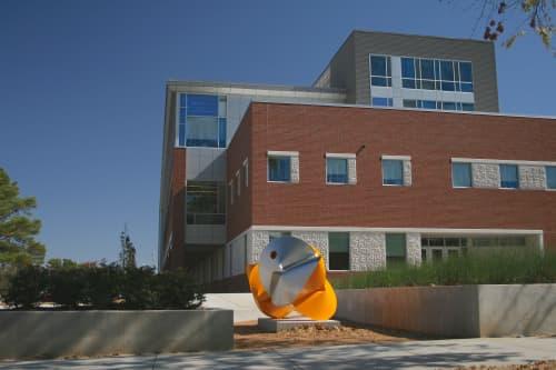Public Sculptures by Jeremy Thomas Studio at University of Arkansas, Fayetteville - Triumph Yellow