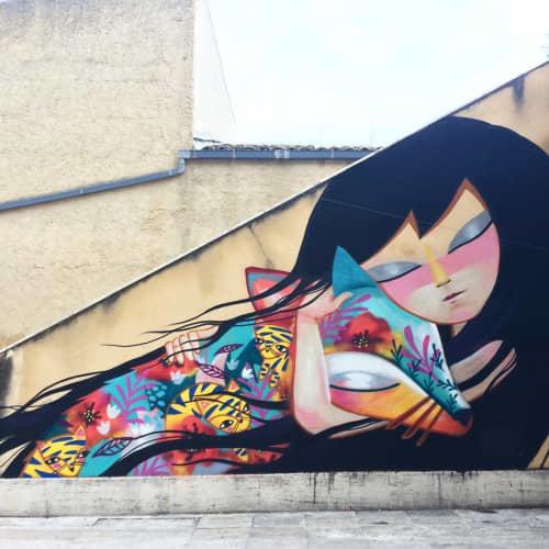 Tenerezza | Murals by Julieta XLF | villa olivia in Castellammare del Golfo