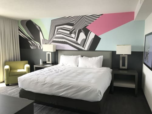 Abstract Pastel Wallpaper and Prints | Wallpaper by Allison Tanenhaus | Studio Allston Hotel in Boston