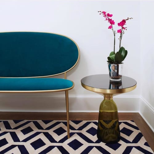 Tables by M2L seen at Private Residence, New York - Bell Table