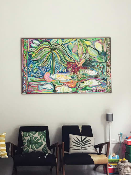 FAMILY OF FISH | Paintings by RIPPLE ROOT by Liquan Liew and Estella Ng