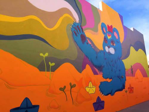 "Murals by Allison Bamcat at Santa Clara Elementary School, Miami - ""Bjorn"""