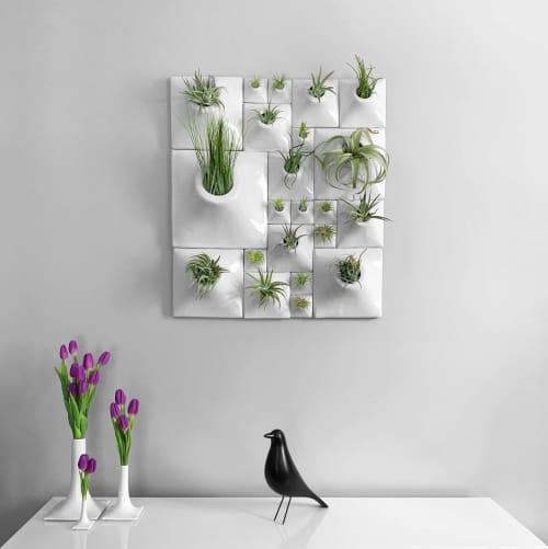 Modern Ceramic wall planter greenwall Pandemic Design Studio   Vases & Vessels by Pandemic Design Studio