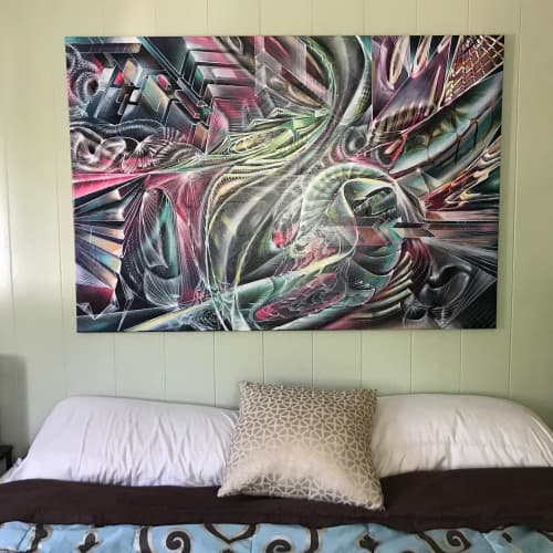 Paintings by Max Ehrman (Eon75) seen at Private Residence - Commissioned Painting