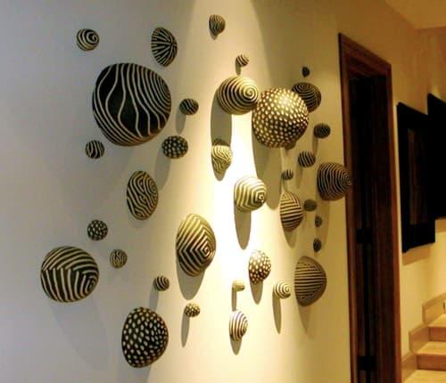 Sculptures by Larry Halvorsen - Wall Balls