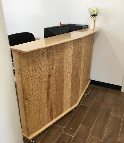 Furniture by HerlanderArt seen at Metro Drafting & Design Ltd, Brooklyn - Reception Desk