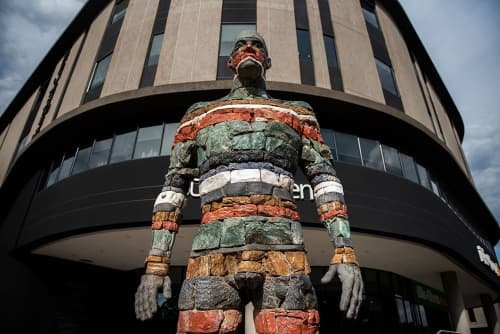 """""""Son of the soil - children of these rocks """"   Public Sculptures by Angus Taylor   Atterbury Property in Pretoria"""
