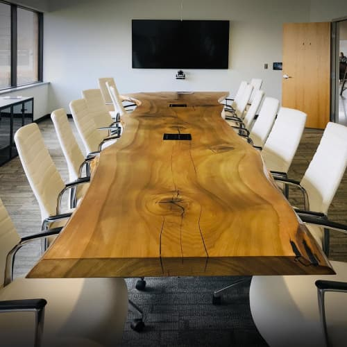 Ebonized Poplar conference table | Tables by Created Hardwood