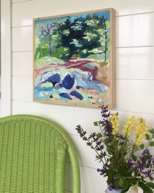 Paintings by willa vennema seen at Private Residence, Swans Island - View of the Woods