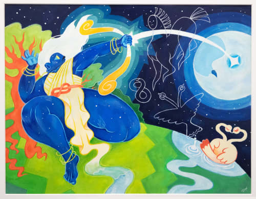 Paintings by Emily Alvarez seen at Private Residence, Kansas City - Pantheon