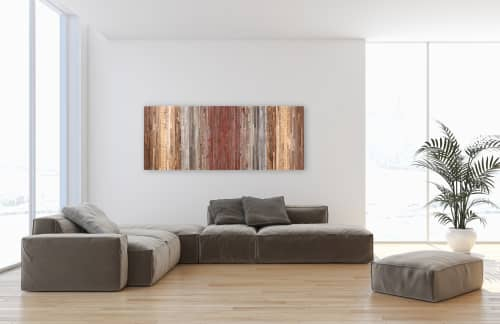 Gradient Lines   Wall Hangings by Craig Forget   Private Residence, Essex, Ontario in Essex