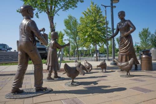 Egg Money - Saskatoon | Public Sculptures by Don Begg / Studio West Bronze Foundry & Art Gallery