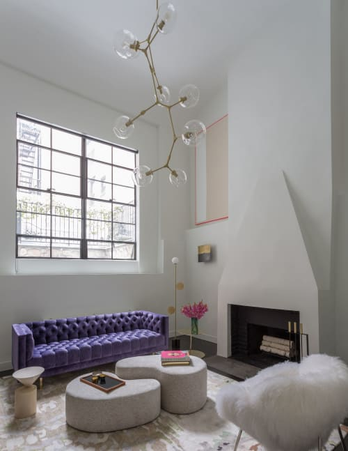 Benches & Ottomans   Benches & Ottomans by Manzanares Furniture Corp.   Private Residence, Greenwich Village in New York