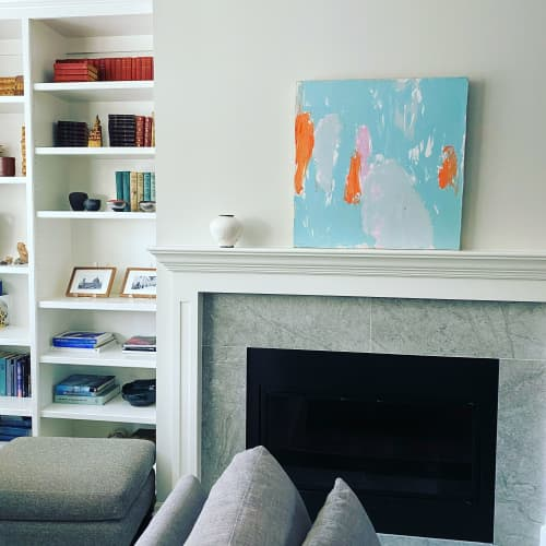 Paintings by Donna Bruni seen at California Building, Minneapolis - Bluebird Day