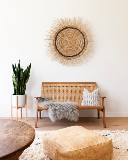 Furniture by HOME seen at Private Residence, Topanga - Vintage Hemp Floor Pouf