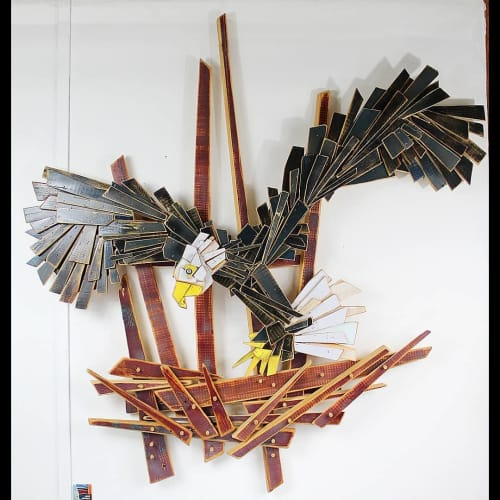 Sculptures by JOSE ANTONIO ARVELO seen at Point Pleasant Beach, Point Pleasant Beach - AMERICANA