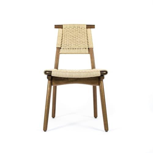 Chairs by Semigood Design seen at Creator's Studio, Issaquah - Rian Bullhorn Chair, Hardwood, Woven Danish Cord