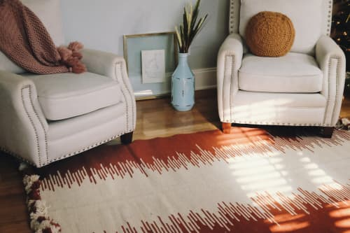 Rugs by Qadimi seen at Private Residence, Raleigh - Adobe Afghan Persian Kilim Rug